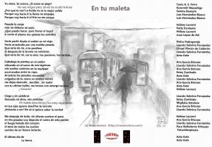 En tu maleta, Poema colectivo