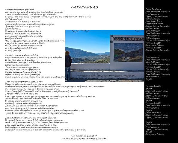 """CARATAUNAS ( Poema colectivo, """"Los miércoles tampoco muerde"""" )"""