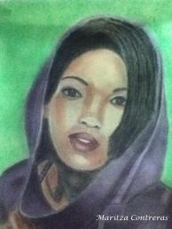 Dibujo en tiza pastel, Maritza Contreras