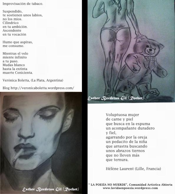 "Poemas para ""Chica fumando"" y ""Chica osito"" de Esther Bordetas Gil"