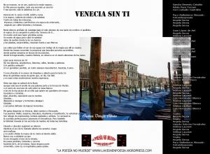 """Venecia sin ti, poema colectivo del 30/07, """"Los Miércoles tampoco muerde"""""""